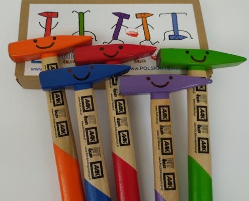 kolorowe młotki dla dzieci